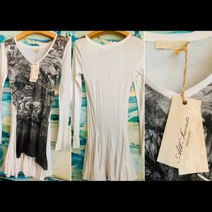 All Saints Edita T-shirt Dress/tunic uk10/usa6